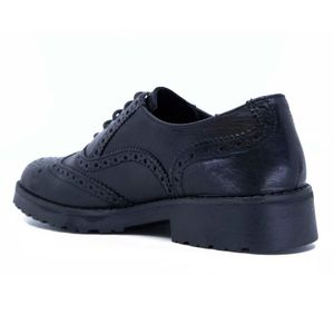 Black lace-up with stitching