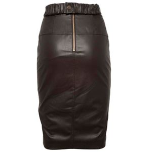 Brown longuette in coated fabric