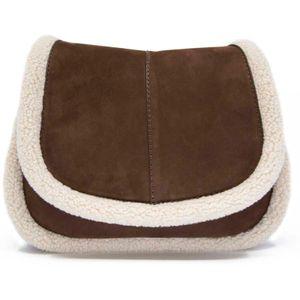 Herena Round brown shoulder strap