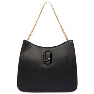 Black shopping bag with shiny logo