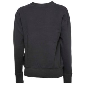 Black crewneck sweatshirt with white pony