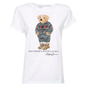 T-Shirt Polo Bear bianca