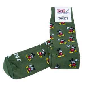 Green Mickey Loop Socks