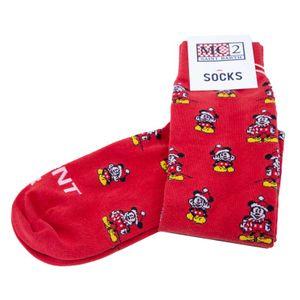 Red Mickey Xmas Double socks