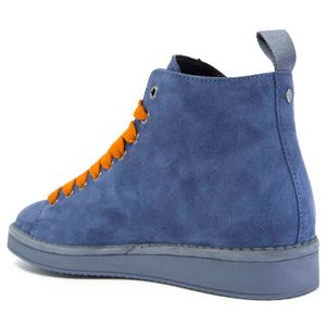 P01 ankle boot in blue suede
